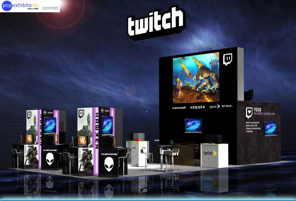 Twitch E3 Booth Rental - P.O.P. Exhibits Inc.