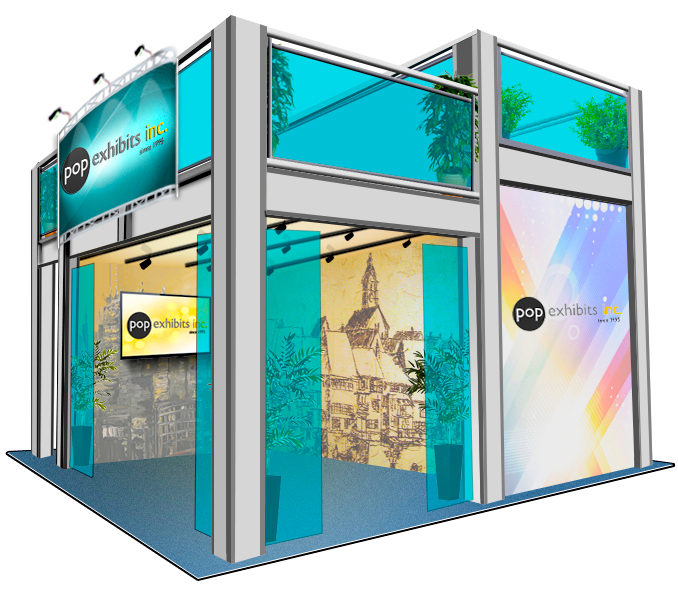 Split-level-double-deck-exhibit for L.A.