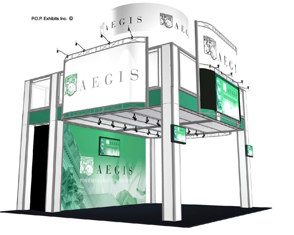 Double deck exhibit rental - Orlando