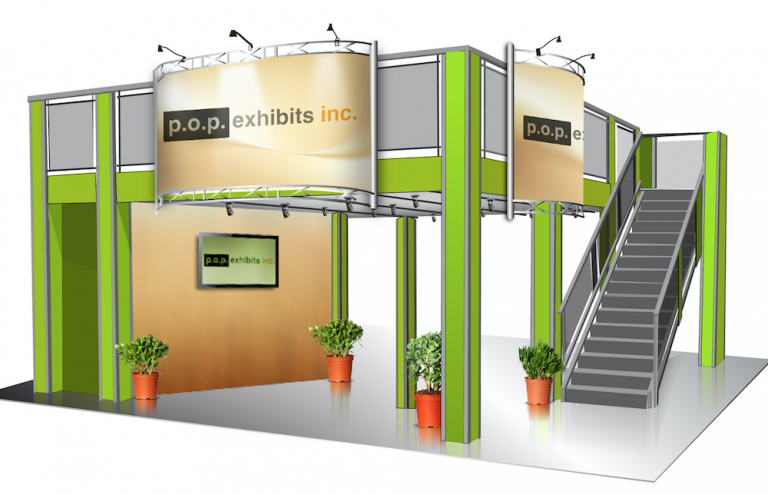 P.O.P. Exhibits Inc. - Double Deck Exhibit Rental