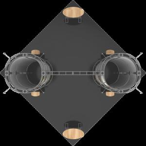 Gemini-20x20 truss exhibit top view