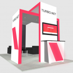 Exhibit Rental - Island booth design
