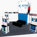 Trade show exhibit rental - Moscone Exhibit Rentals - Kit 258