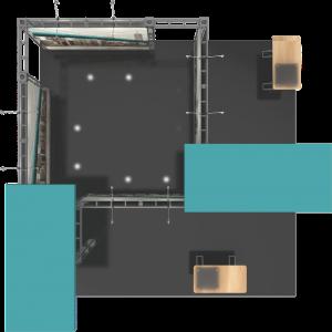 Onyx-20x20 truss display top view
