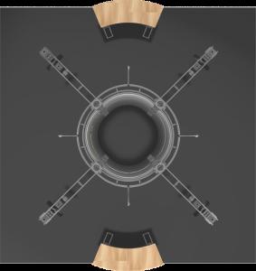 Vesta-20x20 truss display top view