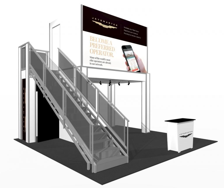 9' x 13' Double deck with conference