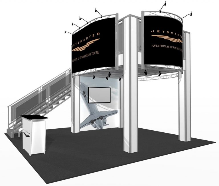 9 x 13' Two-Story Booth
