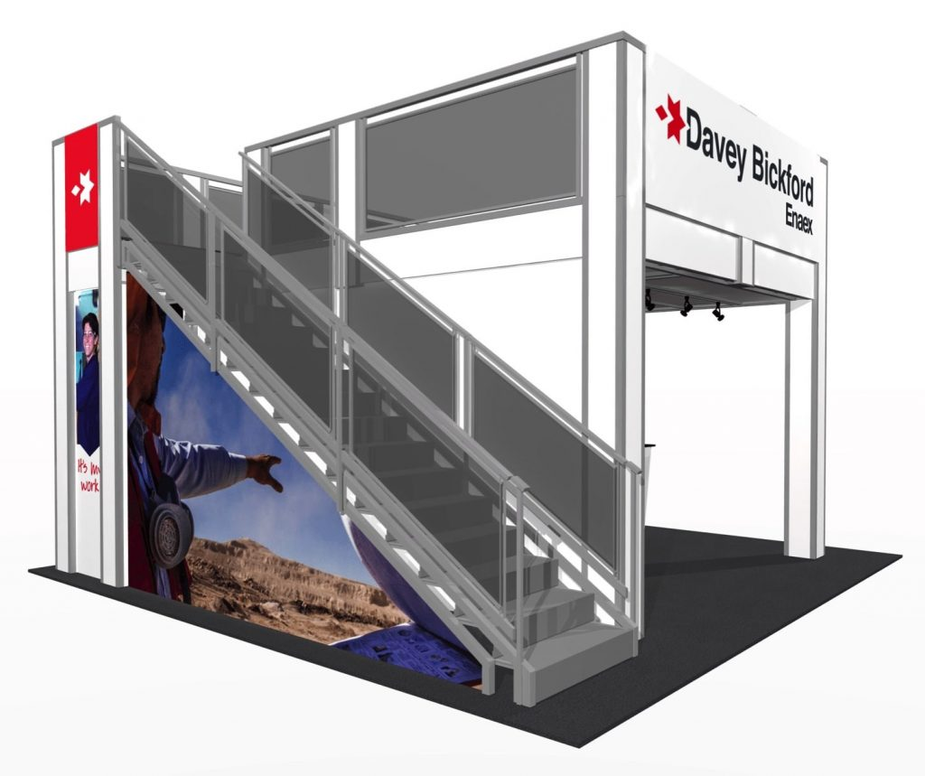 P.O.P. Exhibits Inc. 2-Story Booth Rental A
