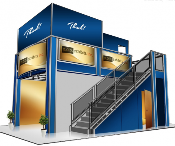 Double deck exhibit for Anaheim