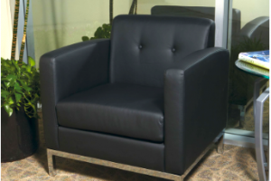 Black chair rental for trade shows