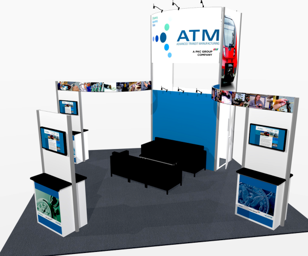 Trade show exhibit rental - Moscone Exhibit Rentals - Kit 258