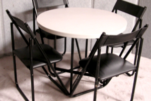 Standard conference table and 4 chairs